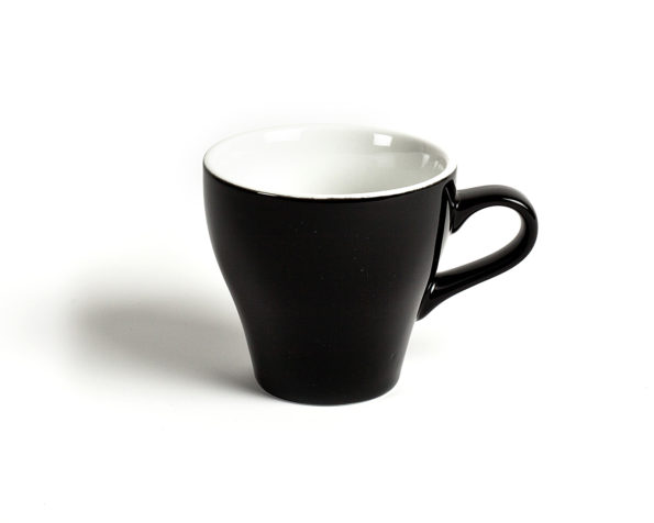 ACME 177ml Black Tulip Flat White Cups