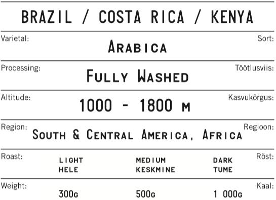 BRAZIL-COSTA RICA-KENYA