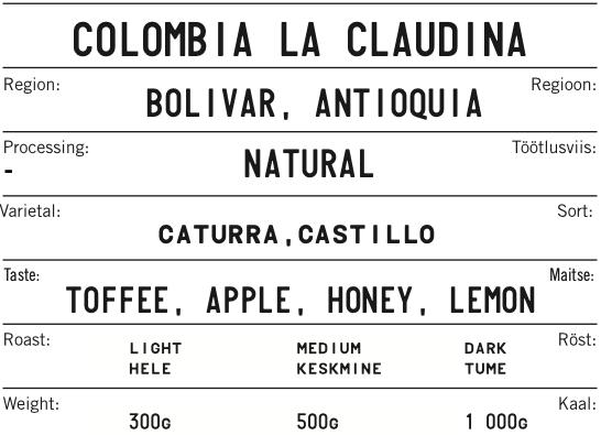 COLOMBIA LA CLAUDINA Natural