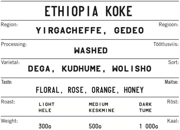 ETHIOPIA KOKE